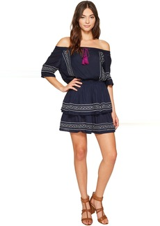 Romeo & Juliet Couture Short Sleeve Embroidery Dress