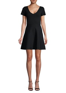 Romeo & Juliet Couture Short-Sleeve Fit-&-Flare Sweater Dress