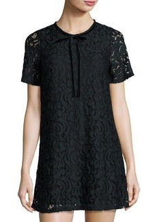 Romeo & Juliet Couture Short-Sleeve Lace-Overlay Shift Dress