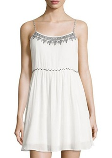 Romeo & Juliet Couture Sleeveless Embroidered-Trim Dress