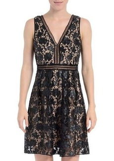 Romeo & Juliet Couture Sleeveless Faux-Leather Dress