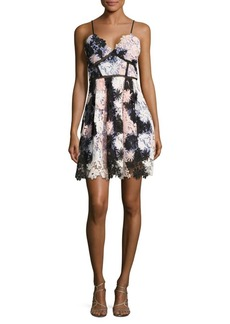 Romeo & Juliet Couture Sleeveless Floral-Lace Fit-&-Flare Dress