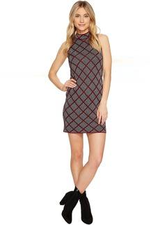 ROMEO & JULIET COUTURE Sleeveless Mock Neck Geo Knit Dress