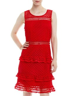 Romeo & Juliet Couture Sleeveless Tiered Crochet Dress