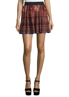 Romeo & Juliet Couture Southwestern Print Flutter Skirt