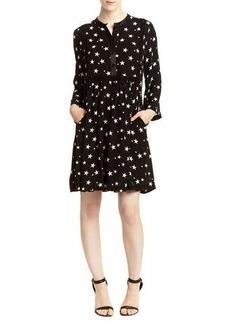 Romeo & Juliet Couture Star-Print Long-Sleeve Shirtdress