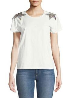 Romeo & Juliet Couture Star-Shoulder Short-Sleeve Tee