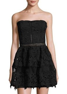Romeo & Juliet Couture Strapless Embroidered-Overlay Dress