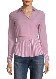 Romeo & Juliet Couture Stripe Wrap Shirt