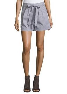 Romeo & Juliet Couture Striped Waist-Tie Shorts