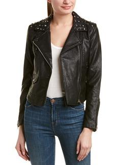 Romeo & Juliet Couture Studded Moto Jacket
