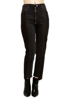 Romeo & Juliet Couture Two-Tone Ring-Zip Ankle Jeans