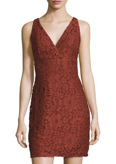 Romeo & Juliet Couture V-Neck Lace Sheath Dress