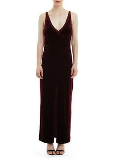 Romeo & Juliet Couture V-Neck Velvet & Mesh Maxi Dress