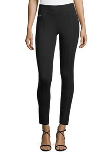 Romeo & Juliet Couture Wide-Waistband Zip-Side Leggings