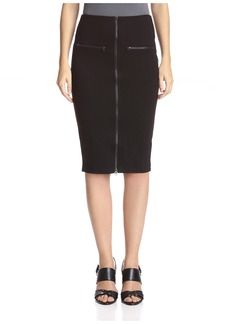 Romeo & Juliet Couture Women's Mid Knit Skirt With Front Zipper  S