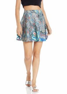 ROMEO & JULIET COUTURE Women's Printed Scuba Skirt  Skirt MD