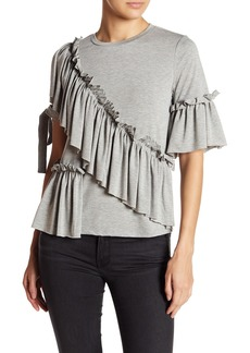 Romeo & Juliet Couture Ruffled Tie Sleeve Jersey Top