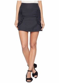 Romeo & Juliet Couture Ruffle Detail Striped Skirt
