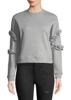 Romeo & Juliet Couture Ruffle-Trim Crewneck Sweatshirt
