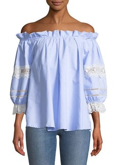 Romeo & Juliet Couture Ruffled Off-The-Shoulder Blouse