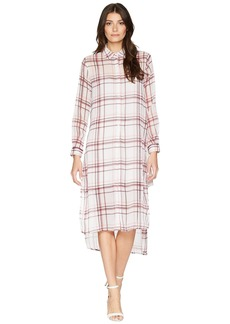 Romeo & Juliet Couture Semi Transparent Plaid Shirtdress