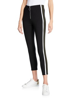 Romeo & Juliet Couture Slim-Fit Ponte Pants with O-Ring Detail