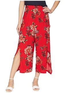 Romeo & Juliet Couture Slit Front Floral Pants