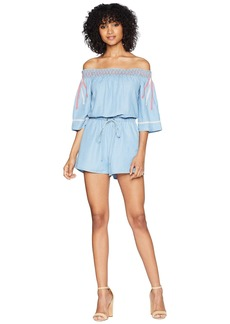 Romeo & Juliet Couture Smocking and Stitch Detail Romper