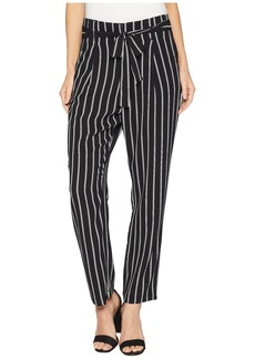 Romeo & Juliet Couture Striped Pants with Tie Up Belt Detail