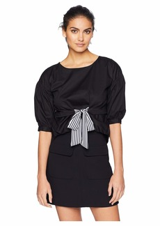 Romeo & Juliet Couture Tie Up Front Shirt