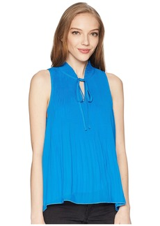 Romeo & Juliet Couture Tie Up Fronted Pleated Top