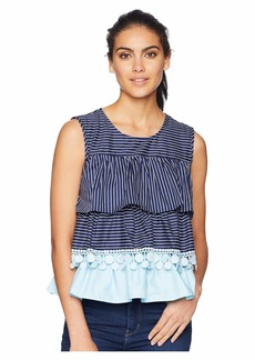 Romeo & Juliet Couture Tiered Multi Stripe Top