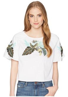 Romeo & Juliet Couture Tropical Embroidered Top