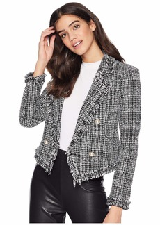 Romeo & Juliet Couture Tweed and Faux Pearl Blazer