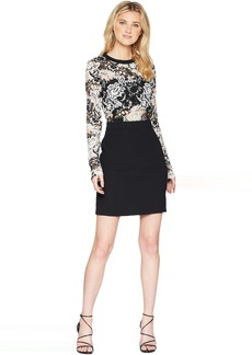 Romeo & Juliet Couture Two-Toned Lace Dress