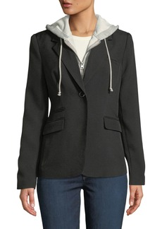 Romeo & Juliet Couture Twofer Hooded Blazer Jacket
