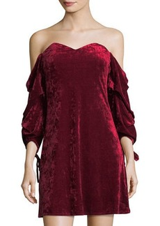 Romeo & Juliet Couture Velvet Off-the-Shoulder Dress