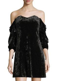 Romeo & Juliet Couture Velvet Off-the-Shoulder Dress