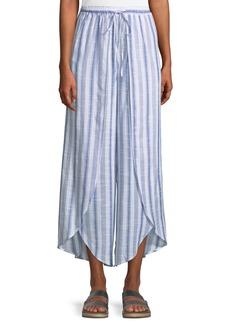 Romeo & Juliet Couture Wide-Leg Tulip-Hem Striped Pants