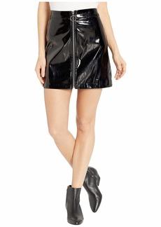 Romeo & Juliet Couture Zip Front Shiny Mini Skirt