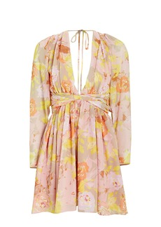 Ronny Kobo Alyson Floral Chiffon Dress