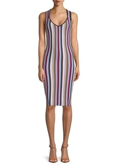 Ronny Kobo Ariella Striped Bodycon Dress
