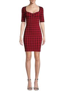 Ronny Kobo Checkered Sheath Dress