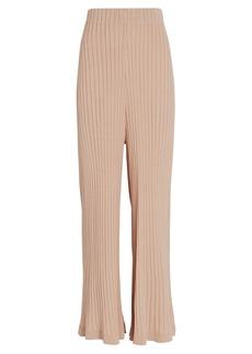 Ronny Kobo Debbie Rib Knit Wide-Leg Pants