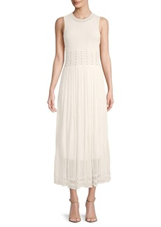 Ronny Kobo Ebrill Embellished Sleeveless Dress