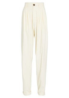 Ronny Kobo Ginevra Pleated High-Rise Pants