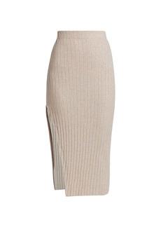 Ronny Kobo Irenna Knit Side-Slit Skirt