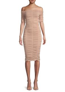 Ronny Kobo Nina Off-the-Shoulder Sheath Dress