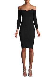 Ronny Kobo Off-The-Shoulder Sweater Dress